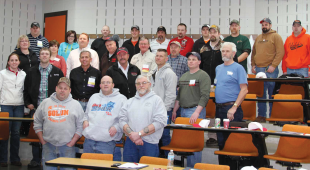 A group of Iowa meat processors that attended a workshop on business continuity planning.