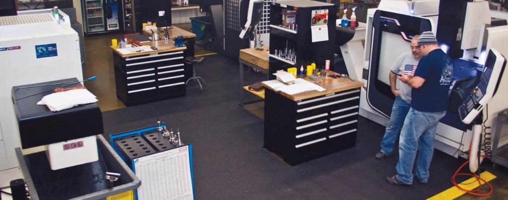 Cline Tool's high-tech manufacturing equipment includes a DMG MORI SEIKI machine cell.