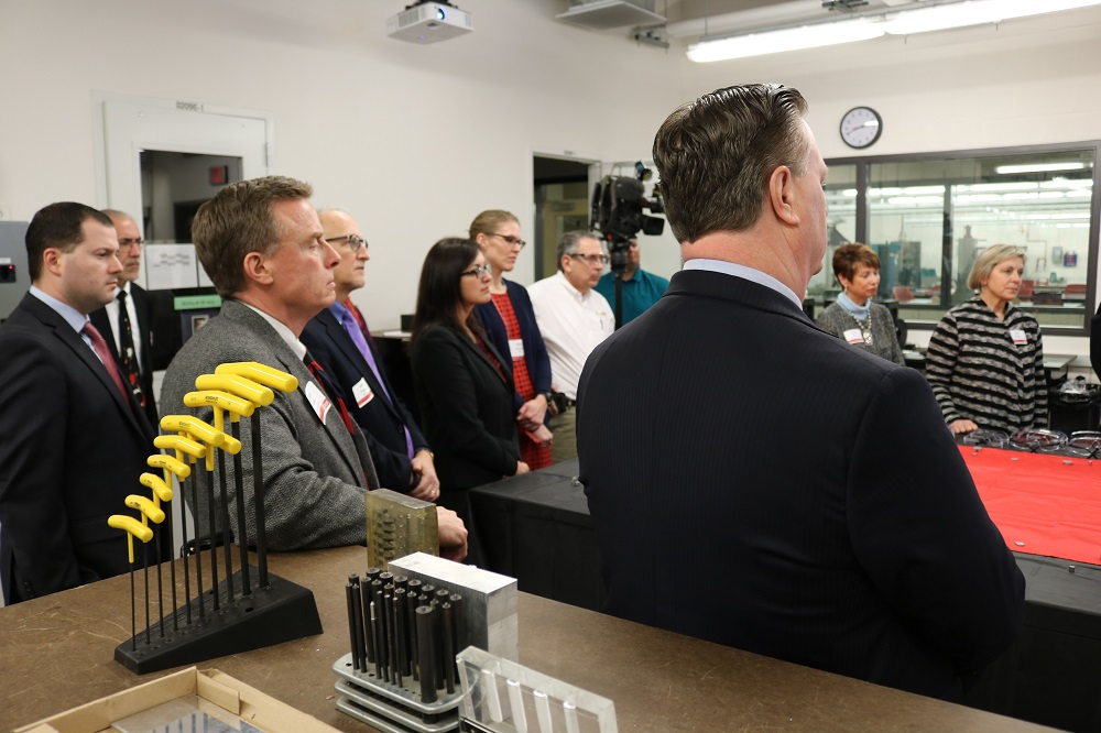 The ribbon-cutting was attended by members of the CIRAS Advisory Council, Iowa State officials, CIRAS clients and the partner agencies who helped us pay for the machine.