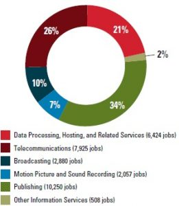 Figure 1. Composition of Iowa's Information Sector.
