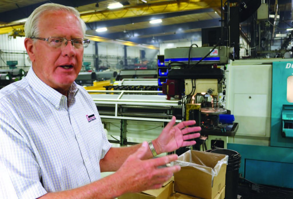 Loy Van't Hull at Double HH Manufacturing in Rock Valley