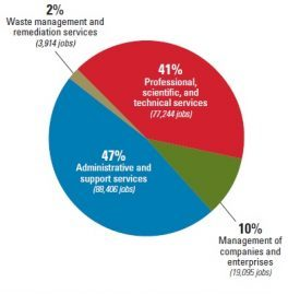 Figure 1. Composition of Iowa's Professional and Business Services Sector